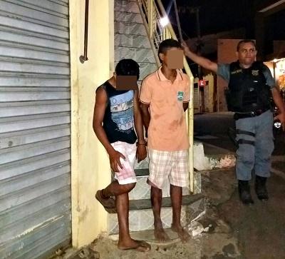 Suspeitos de vários assaltos (Foto: Samuel Barreto)