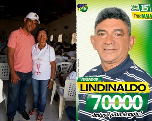 Rogério do PT, dona Socorro e o vereador Lindinaldo (Foto: Facebook)