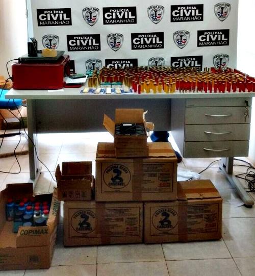 munições apreendidas em Esperantinópolis/MA, pela Polícia Civil (Foto: PC)