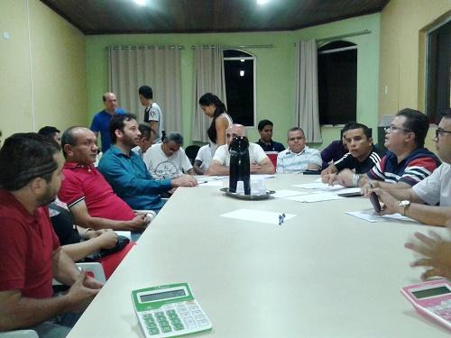 Reunião coletiva do trabalho para definir novo salários dos empregados no comércio de Pedreiras (Foto: Sindicato dos empregados)