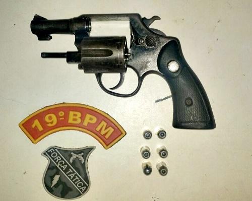 Arma apreendida durante operação da Força Tática/Foto: PM