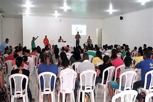Apresentação do projeto no auditório municipal/Foto: ASCOM/Trizidela do Vale