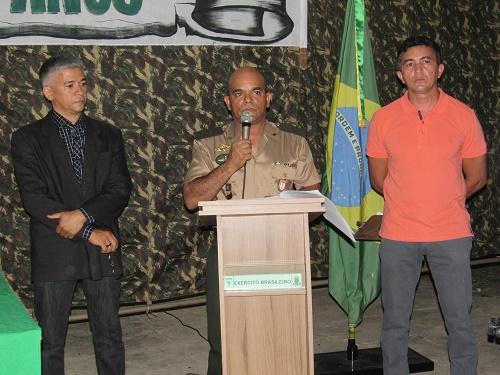 Joaquim Filho, Subtenente Lobato e Francisco (Foto: Sandro Vagner)
