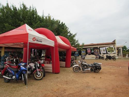 Stand de venda da Mearim Motos Honda de Pedreiras/Foto: Sandro Vagner
