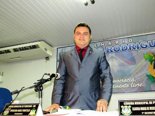 Vereador Robson Rios - Pres. da Câmara/Foto: Sandro Vagner)