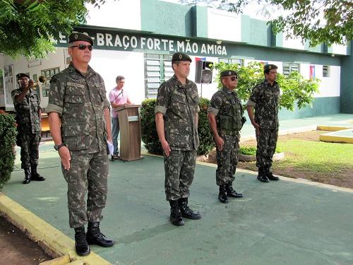 1º Ten. Afonso, Ten. Coronel Paquet, Subtente Lobato e o 1º Sargento Denílson/Foto: Sandro Vagner