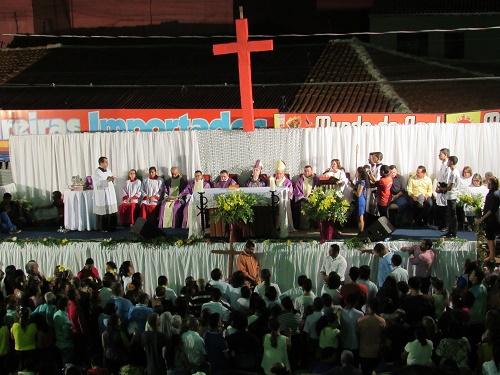 Missa de encerramento do festejo de São Benedito/Pedreiras - MA/Foto; Sandro Vagner