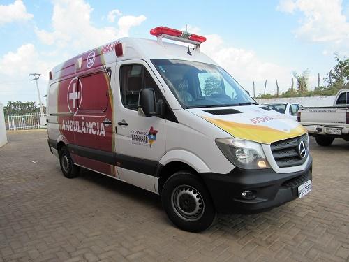 Uma das ambulâncias adquiridas pelo Governo do Estado/Foto: Sandro Vagner