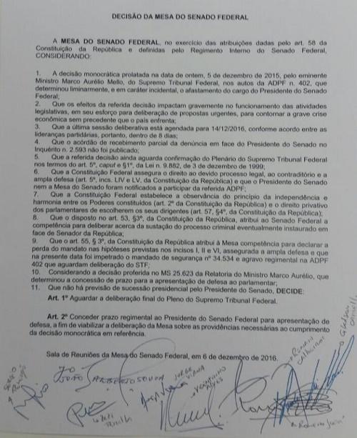 Carta da Mesa Diretora