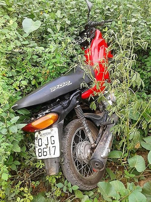 Moto recuperada pela GU de Lago dos Rodrigues - Foto: PM de Lago dos Rodrigues
