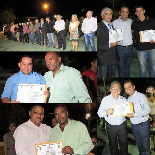 Amigos do Tiro de Guerra foram contemplados com certificados/Foto: Sandro Vagner