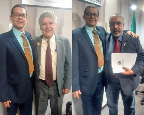 Marcus Krause com Dep. Federal Chico Alecar, e com o Senador Paulo Paim